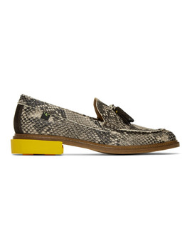 Off White Python Tassel Loafers by Off White