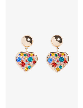 Heart Drop Earrings by Monki