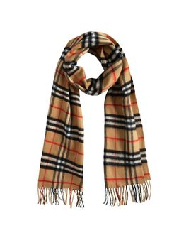 The Classic Vintage Check Cashmere Scarf by Burberry