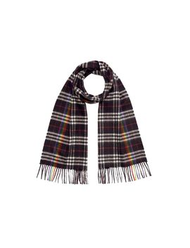 The Classic Rainbow Check Cashmere Scarf by Burberry