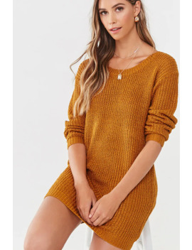 Mini Ribbed Sweater Dress by Forever 21
