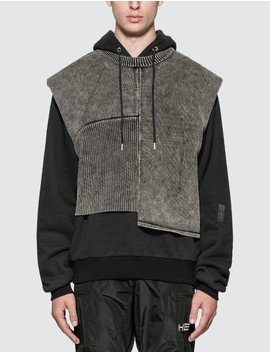 Knitted Vest Hoodie by Heliot Emil
