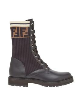 Rockoko Combat Boots by Fendi