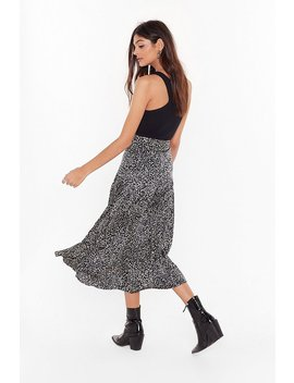 Wild By Me Leopard Midi Skirt by Nasty Gal