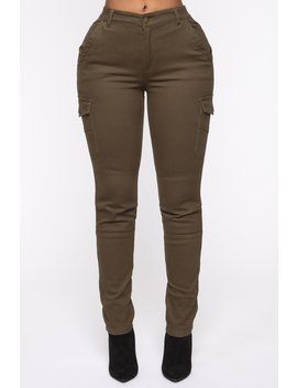 Call It Quits Cargo Pants   Olive by Fashion Nova