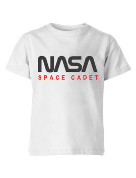 Nasa Space Cadets Chest Kids' T Shirt   White by Iwoot