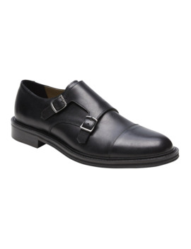Marden Leather Monk Strap Oxford by Banana Repbulic