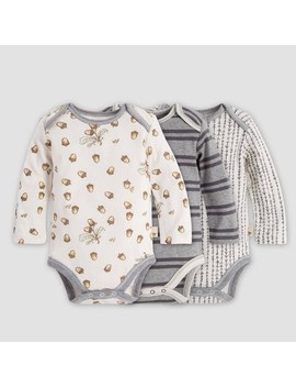 Burt's Bees Baby® Baby Girls' Organic Cotton Falling Acorns Bodysuit   Gray by Burt's Bees Baby