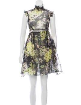 Printed Silk Mini Dress by Erdem