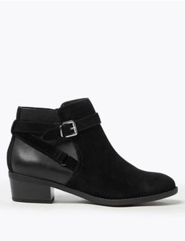 Suede Side Buckle Ankle Boots by Marks & Spencer