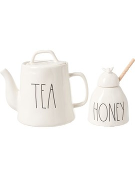Rae Dunn Teapot And Honey Jar Set   2 Pack by Rae Dunn