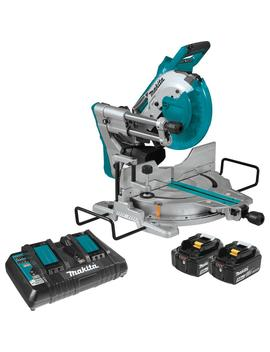 18 Volt 5.0 Ah X2 Lxt Lithium Ion (36 V) Brushless Cordless 10 In. Dual Bevel Sliding Compound Miter Saw With Laser Kit by Makita