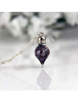 Vial Necklace   Dainty Necklace   Lilac Necklace   Terrarium Necklace   Real Lilac Necklace   Tiny Necklace by Etsy