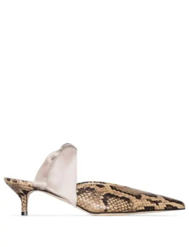 Bandana Girl 55mm Snake Effect Pumps by Gia Couture