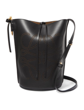 Gate Perforated Leather Bucket Bag by Loewe