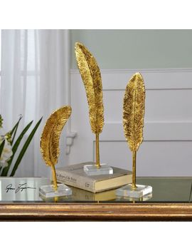 Uttermost Feathers Gold Sculpture (Set Of 3) by Uttermost