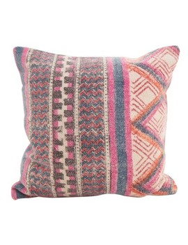 "Saro Lifestyle 18""X18"" Boho Medley Down Filled Throw Pillow Pink by Saro Lifestyle"