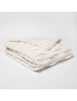 55x80 Solid Faux Fur Bed Throw   Threshold™ by Shop Collections