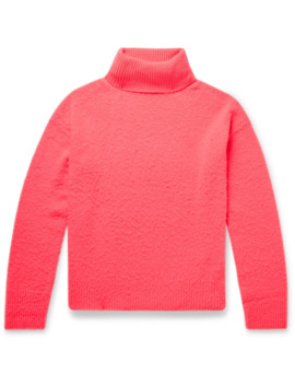 Nyran Brushed Wool And Cashmere Blend Rollneck Sweater by Acne Studios