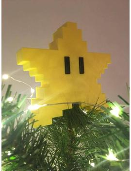 Christmas Mario Style 3 D Decoration Decoration/ Christmas Tree Topper Star Pixel 8 Bit by Etsy