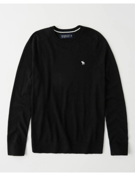 Icon Cotton Cashmere Crewneck Sweater by Abercrombie & Fitch