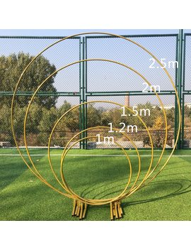 2.5m Big Circle Wedding Birthday Arch Decoration Background Wrought Props Single Arch Flower Outdoor Lawn Mesh Screen Road Guide by Ali Express.Com