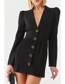 Button Blazer Mini Dress by Forever 21