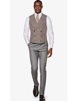 Burgundy Waistcoat by Suitsupply
