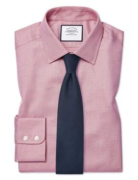 Slim Fit Egyptian Cotton Chevron Pink Shirt by Charles Tyrwhitt