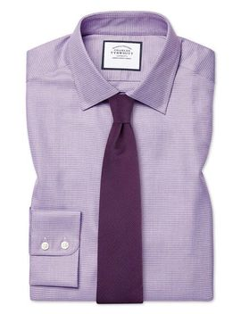 Slim Fit Egyptian Cotton Chevron Purple Shirt by Charles Tyrwhitt