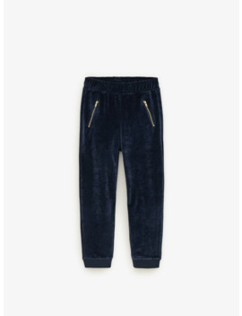 Velour Jogging Pants by Zara