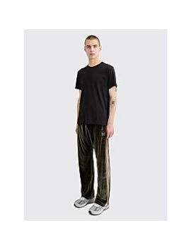 Needles Papillon Embroidery Side Line Track Pants Green by Très Bien