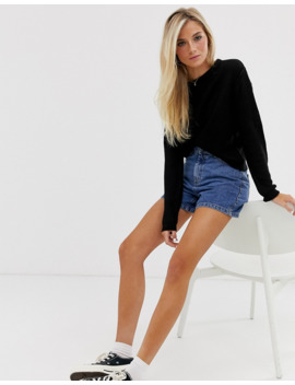 Pull&Amp;Bear Ribbed Crew Neck In Black by Pull&Bear