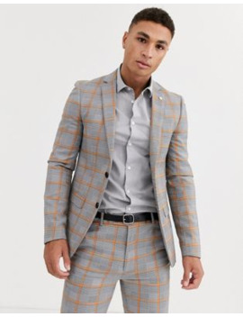 Avail London Suit Jacket In Gray Prince Of Wales Check by Avail London