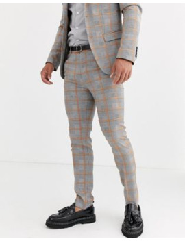 Avail London Suit Pants In Gray Prince Of Wales Check by Avail London