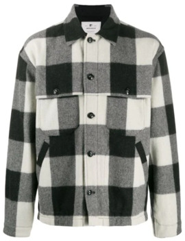 Check Button Down Shirt Jacket by Woolrich