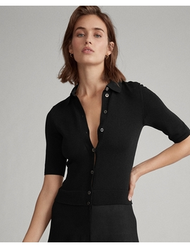 Buttoned Placket A Line Dress by Ralph Lauren