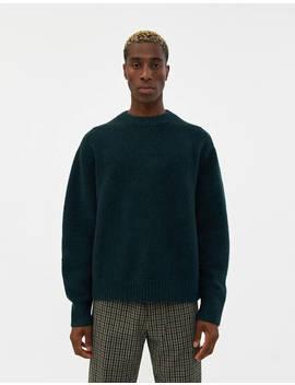 Kael Knit Sweater In Bottle Green by Acne Studios Acne Studios