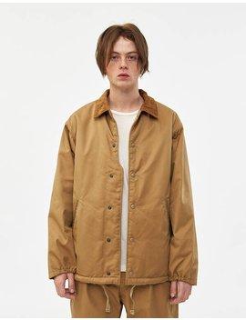 Twill Ground Jacket In Orange by Engineered Garments Engineered Garments