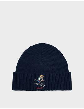Ski Bear Hat In Navy by Polo Ralph Lauren Polo Ralph Lauren