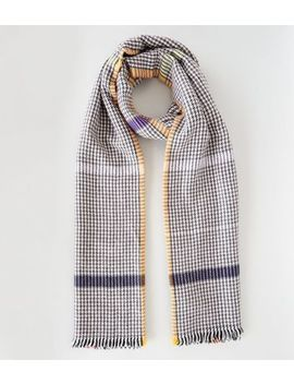 Multicoloured Grid Check Scarf by New Look