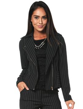 Striped Zip Up Dressy Jacket by Papaya