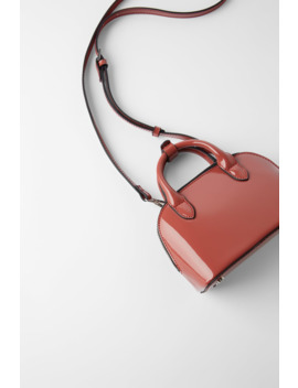 Patent Leather Mini City Bag by Zara