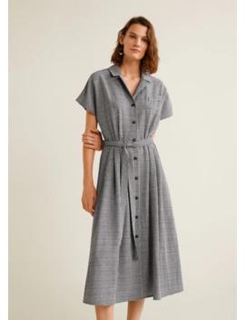 Gingham Check Dress by Mango