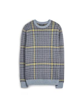 Grey Heritage Check Jumper by Primark