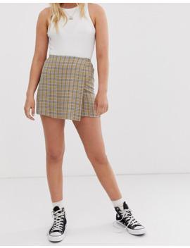 Minifalda A Cuadros Pacific De Pull&Bear by Pull&Bear