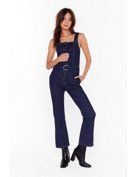 Boiling Point Denim Belted Overalls by Nasty Gal