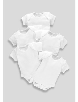 Unisex 5 Pack Bodysuits (Tiny Baby 23mths) by Matalan
