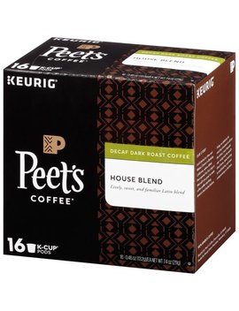 Peet's Coffee Decaffeinated House Blend K Cup Coffee Pods, Dark Roast, 16 Count by Peet's Coffee