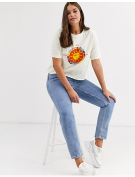 Daisy Street Plus Relaxed Crop T Shirt With Sun Graphic by Daisy Street